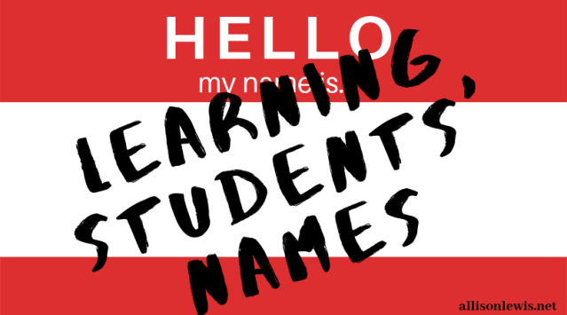 Learning Students' Names - graphic